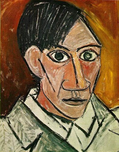 pablo picasso self portrate age 27.jpg